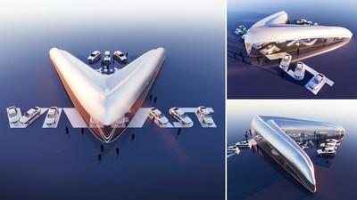 First-prize winning VinFast showroom design by Vicky Daroca (USA)