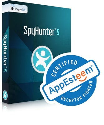 """SpyHunter 5 is certified as a """"Deceptor Fighter"""" & """"clean"""" application by the software review organization AppEsteem."""