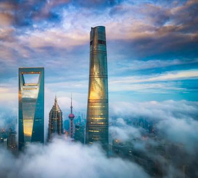 J Hotel Shanghai Tower Exterior (PRNewsFoto/J Hotel Shanghai Tower)
