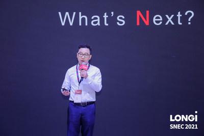 LONGi unveiled its brand new bifacial module Hi-MO N at SNEC2021