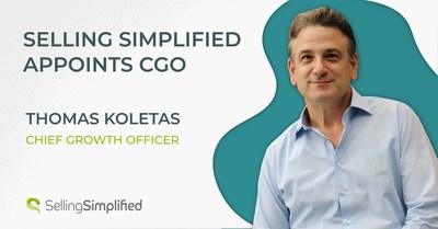 Selling Simplified anuncia a Thomas Koletas como director de Crecimiento.